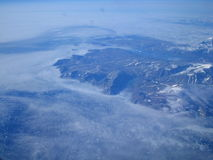 ovanför iceland royaltyfri foto