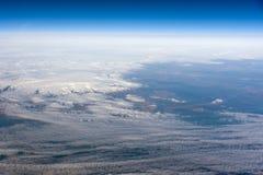 ovanför iceland Arkivbild
