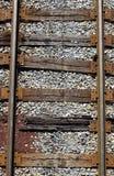 ovanför järnvägspår Arkivbilder