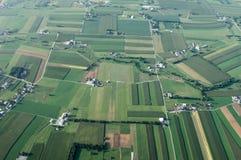 ovanför jordbruksmark Arkivfoto