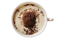 ovanför kaffekrämis Royaltyfri Bild