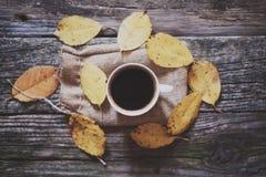 ovanför koppen för svart kaffe arkivbilder