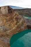 ovanför kraterlakes som ses två Royaltyfria Foton