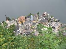 ovanför liten stad Royaltyfria Bilder