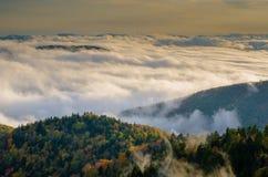 Ovanför molnen Arkivfoto