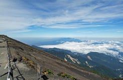 Ovanför molnen i Costa Rica Fotografering för Bildbyråer