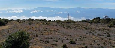 Ovanför molnen i Costa Rica Arkivfoto