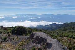 Ovanför molnen i Costa Rica Royaltyfria Bilder