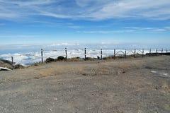 Ovanför molnen i Costa Rica Arkivbilder