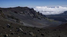 Ovanför molnen i vulkan arkivbild