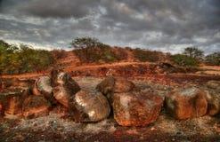 ovanför oklarheter dystra hawaii Fotografering för Bildbyråer