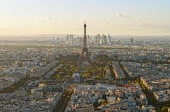 ovanför paris Arkivfoton