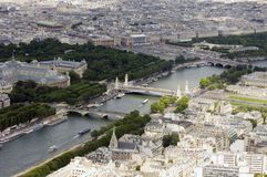 ovanför paris fotografering för bildbyråer