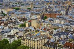ovanför paris royaltyfria bilder