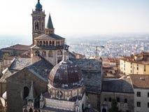 ovanför sikt av basilikan av Santa Maria Maggiore royaltyfria bilder