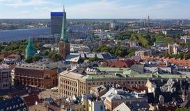 Ovanför sikt av Riga Royaltyfri Foto