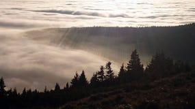 ovanför skyen Royaltyfri Foto
