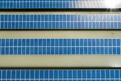 ovanför sol- station för ström Royaltyfria Bilder