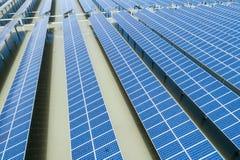 ovanför sol- station för ström Royaltyfri Foto