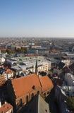 ovanför stad Royaltyfria Foton