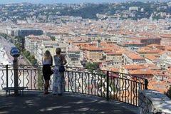 Ovanför staden Royaltyfria Foton