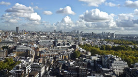 ovanför staden london Arkivfoton