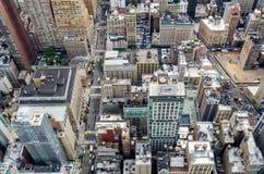 ovanför staden New York Royaltyfri Bild