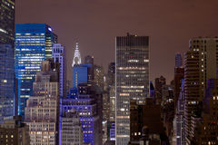 Ovanför staden på 2am Royaltyfri Foto