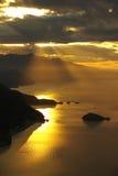 ovanför strand Arkivfoto