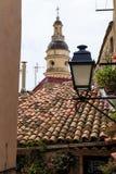 Ovanför tak av staden Arkivbild
