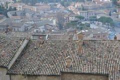 Ovanför taken av Gubbio Royaltyfri Foto