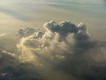 ovanför thunderstorm Arkivbild