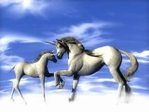 ovanför unicorns Royaltyfria Foton