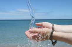 ovanför - vatten fotografering för bildbyråer