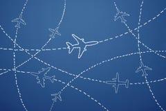 ovanför vingen för lopp för luftboeing oklarheter Royaltyfri Fotografi