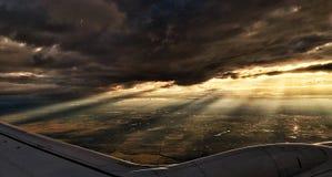 ovanför vingen för lopp för luftboeing oklarheter Royaltyfri Bild