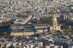 ovanför des-hotellinvalides paris Royaltyfri Foto