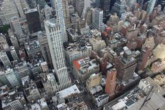 ovanf?r staden New York royaltyfri foto