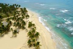 ovanför den exotiska stranden Royaltyfri Foto