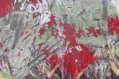 Ovanlig abstrakt färgrik målad väggbakgrundstextur Arkivfoto