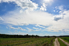 Ovanlig blå himmel Royaltyfri Foto