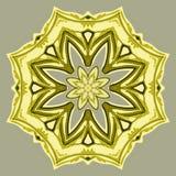 Ovanlig blom- mandala, sömlös rund prydnadmodell, bakgrund Royaltyfria Bilder