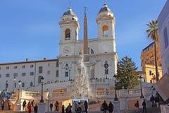 Ovanlig julgran, spanjormoment i Rome Royaltyfri Fotografi