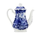 Ovanlig Kina teapot som isoleras. Royaltyfri Bild