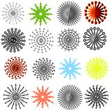 ovanlig kugghjulsnowflake Arkivfoto