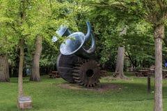 Ovanlig skulptur i London Arkivfoto