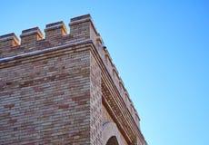 Ovanlig tegelstenvägg från gammal tegelsten royaltyfri foto