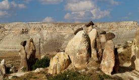 Ovanliga berg i Cappadocia Arkivfoton