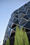 Ovanliga byggnader, Las Tablas, Madrid Arkivfoto