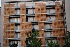 Ovanliga byggnader, Las Tablas, Madrid Arkivbilder